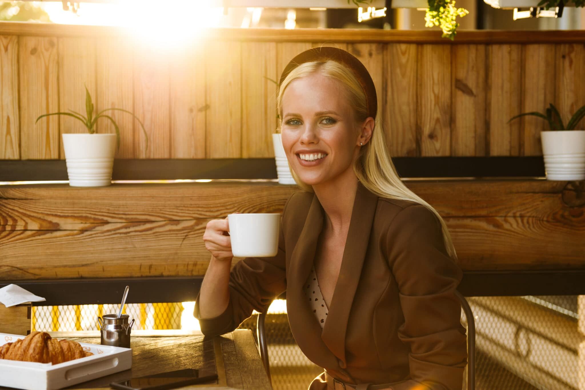 Businesswoman relieved from resolving her issues before the tax deadlines